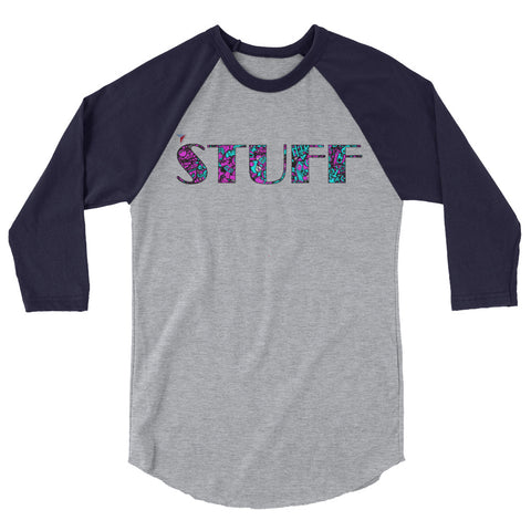 STUFF 3/4 sleeve raglan shirt