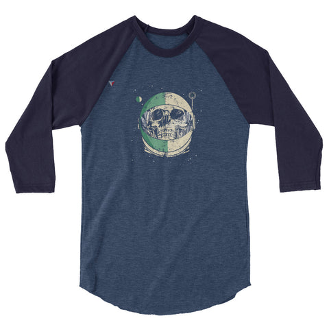 SpaceSkull 3/4 sleeve raglan shirt