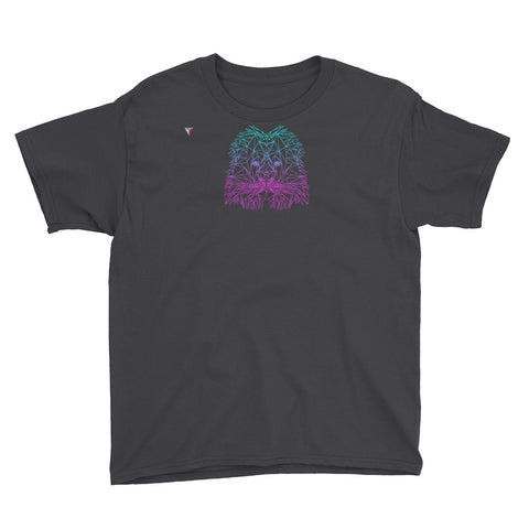 Polygon Neon Lion Youth Short Sleeve T-Shirt