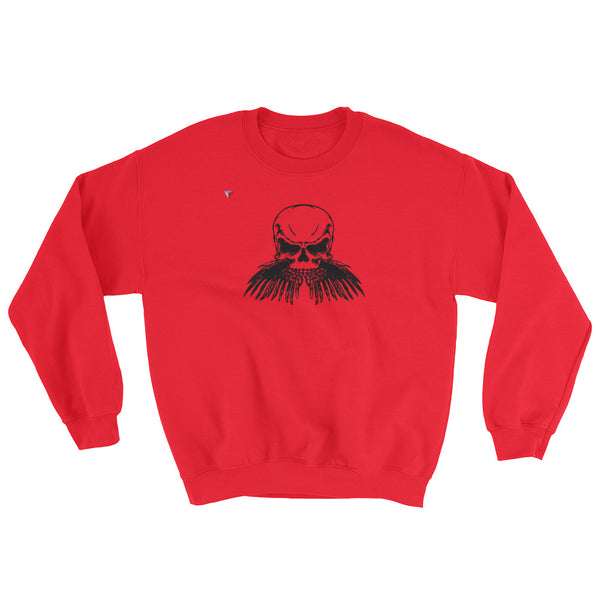 Black Skull Heavy Blend Crewneck Sweatshirt
