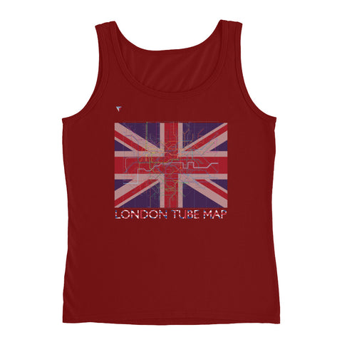 London Metro Map Ladies' Tank