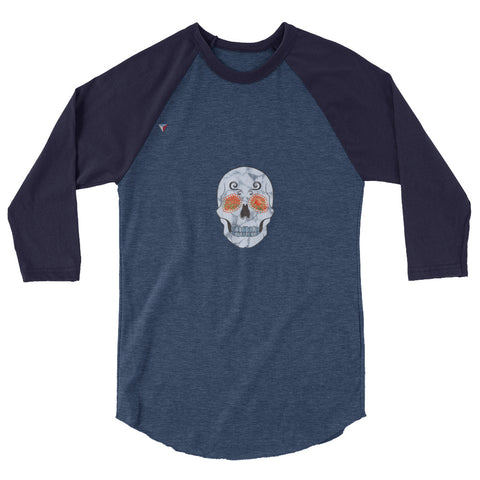 Nature Skull 3/4 sleeve raglan shirt