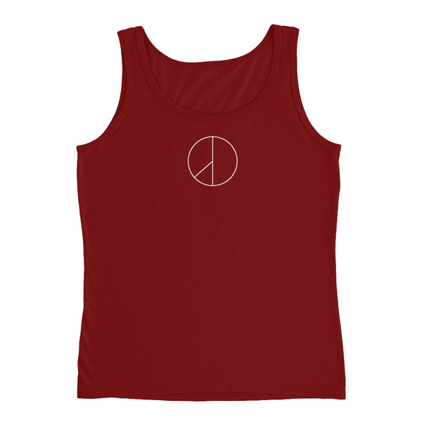 PEACE MINUS ONE White Logo Ladies' Tank