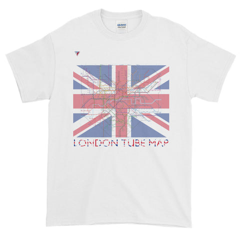 London Metro Map Short-Sleeve T-Shirt