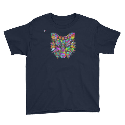 Multicoloured Wolf Youth Short Sleeve T-Shirt