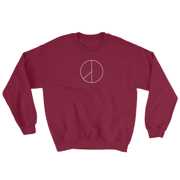PEACE MINUS ONE White Logo Heavy Blend Crewneck Sweatshirt