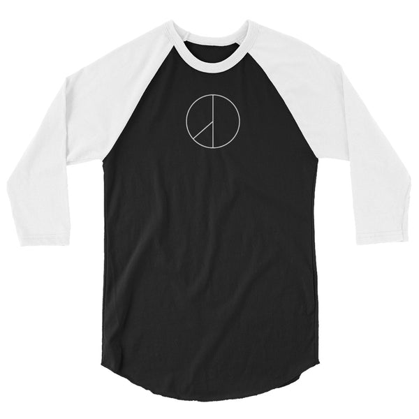 PEACE MINUS ONE White Logo 3/4 sleeve raglan shirt