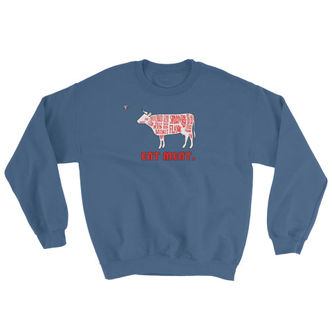 Eat Meat Heavy Blend Crewneck Sweatshirt