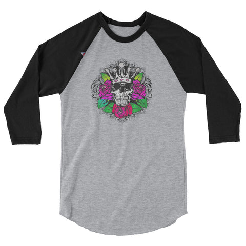 SkullCrown 3/4 sleeve raglan shirt