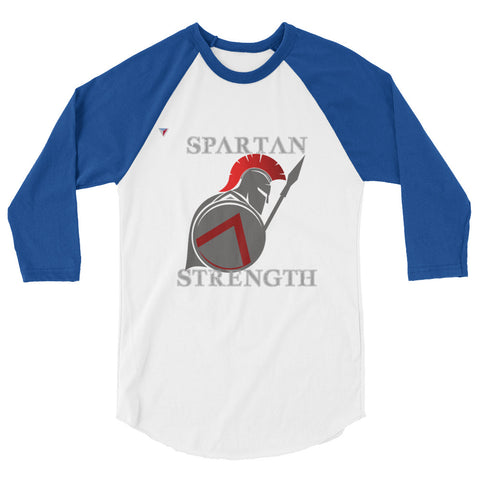 SpartanStrengthSide - G 3/4 sleeve raglan shirt