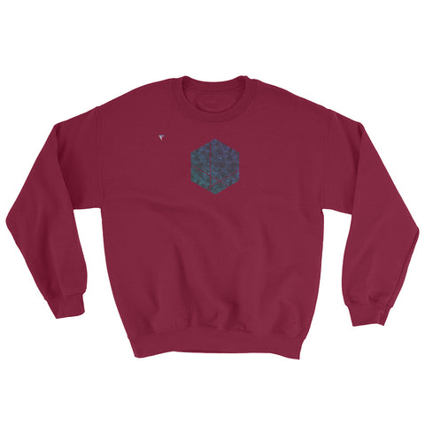 Minimal Hexagon Heavy Blend Crewneck Sweatshirt