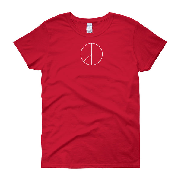 PEACE MINUS ONE White Logo Women's short sleeve t-shirt