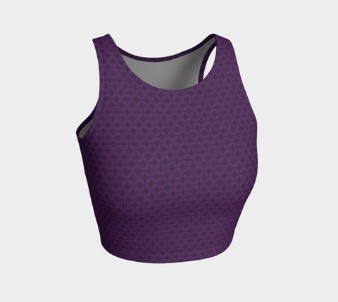Violet Stardust Athletic Crop Top