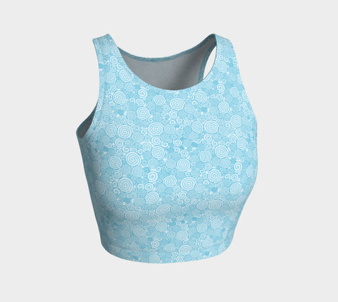 Light Blue Whirl Athletic Crop Top