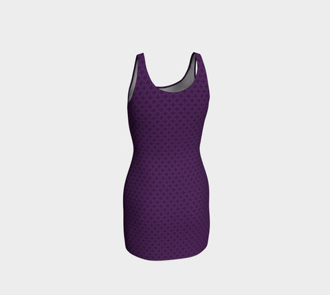 Violet Stardust Bodycon Dress