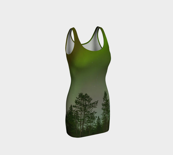 Aurora Forest Bodycon Dress