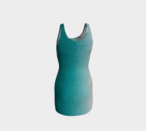 Ocean Sprayed Bodycon Dress