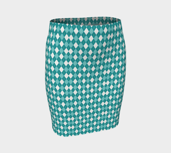 Checkers Fitted Skirt