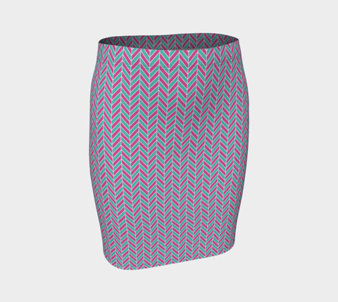 Funky Fishbone Fitted Skirt