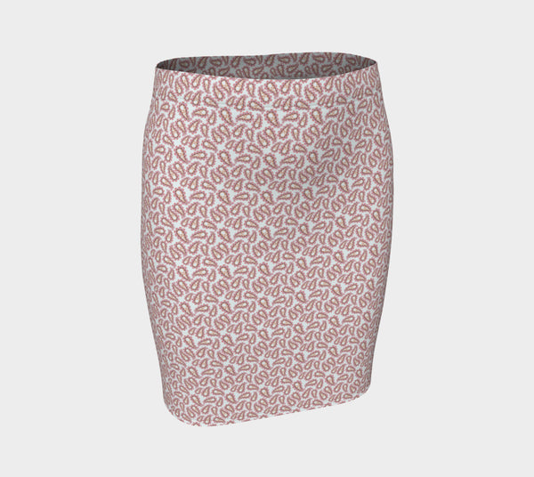 Subtle Paisley Fitted Skirt