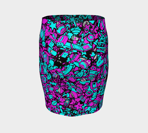 Neon Punk Fitted Skirt
