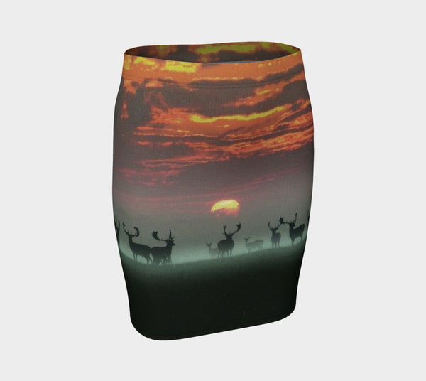 Sundown Deers Fitted Skirt