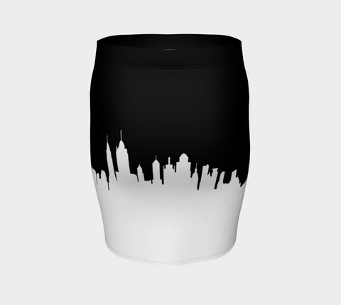 New York Skyline Fitted Skirt
