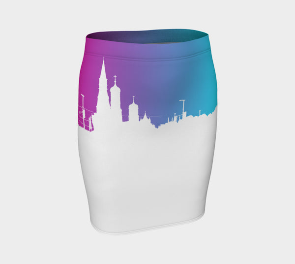 European Skyline Fitted Skirt