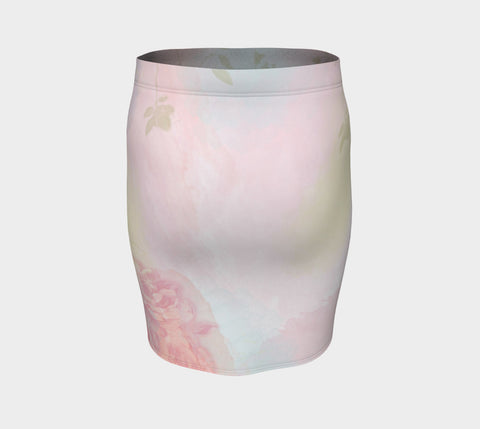 Pastel Rose Fitted Skirt