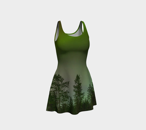 Aurora Forest Flare Dress