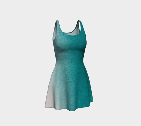 Ocean Sprayed Flare Dress
