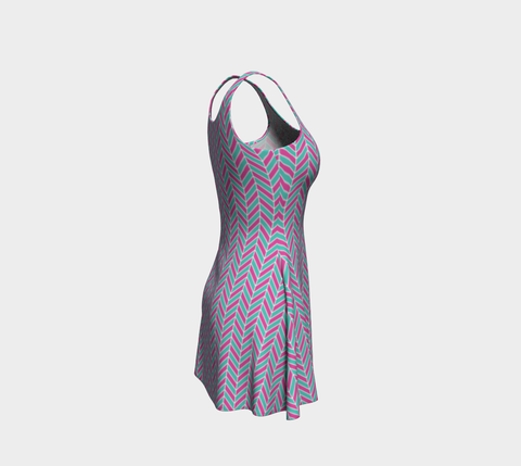 Funky Fishbone Flare Dress