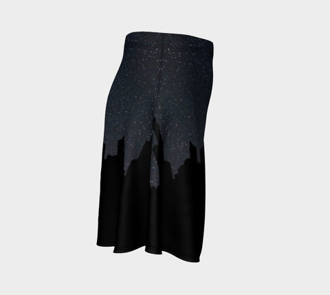 City Nightsky Flare Skirt