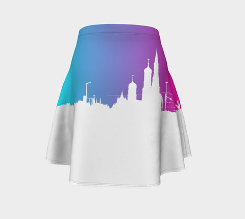 European Skyline Flare Skirt