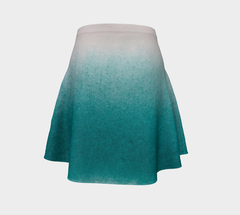 Ocean Sprayed Flare Skirt