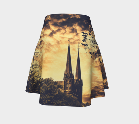 Gothic Cathedral Flare Skirt