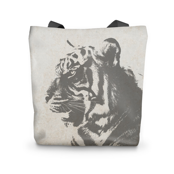 Grey Tiger Tote Bag