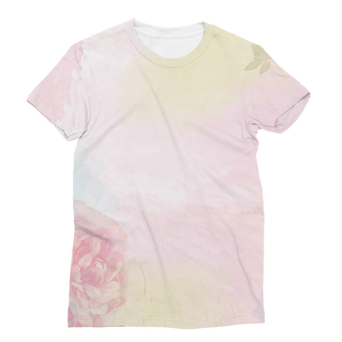 Pink Spring Rose Unisex Sublimation T-Shirt