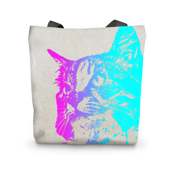 Neon Cat Tote Bag