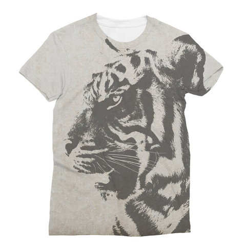 Grey Tiger Unisex Sublimation T-Shirt