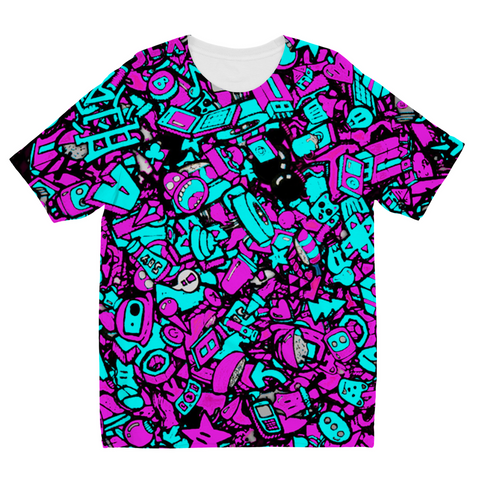 Neon Punk Kids Sublimation T-Shirt