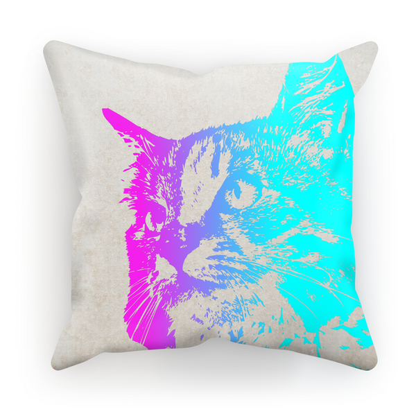 Neon Cat Pillow