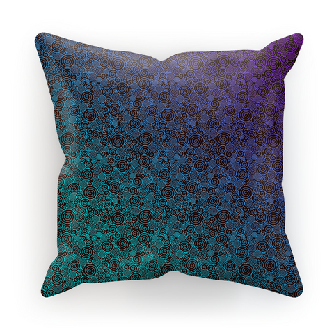 Purple Cyan Curls Pillow