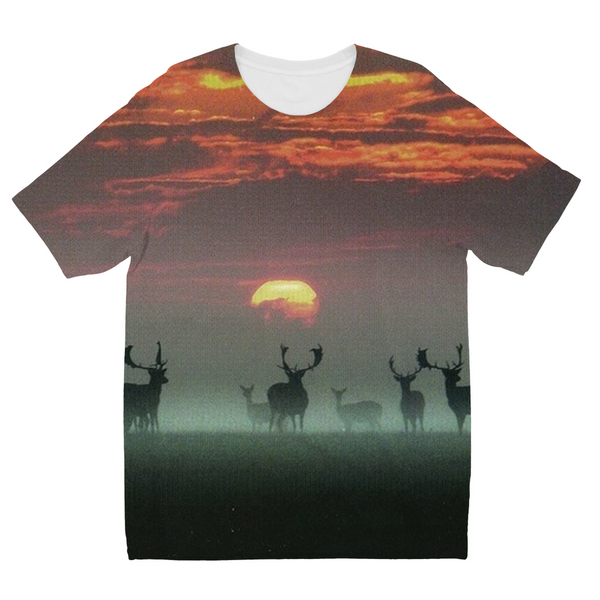 Sunset Deer Kids Sublimation T-Shirt