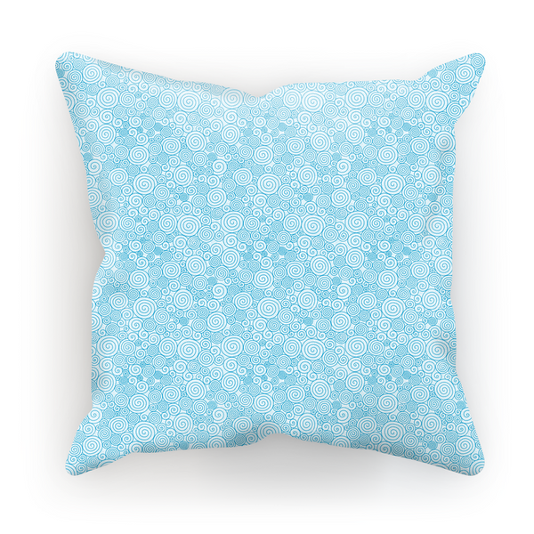 Blue Curly Pattern Pillow