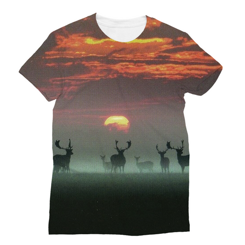 Sunset Deer Unisex Sublimation T-Shirt