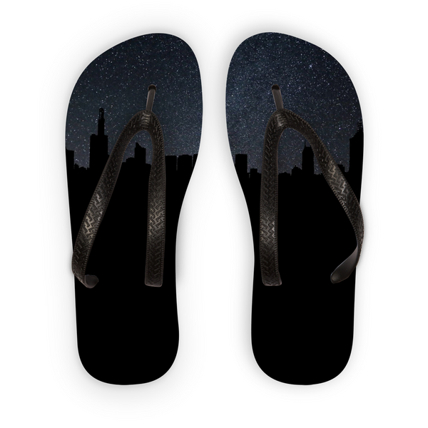City By Night Flip Flops