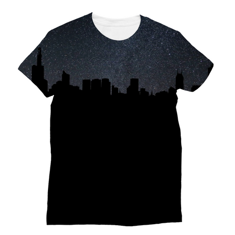 City By Night Unisex Sublimation T-Shirt