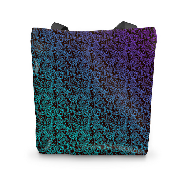 Purple Cyan Curls Tote Bag