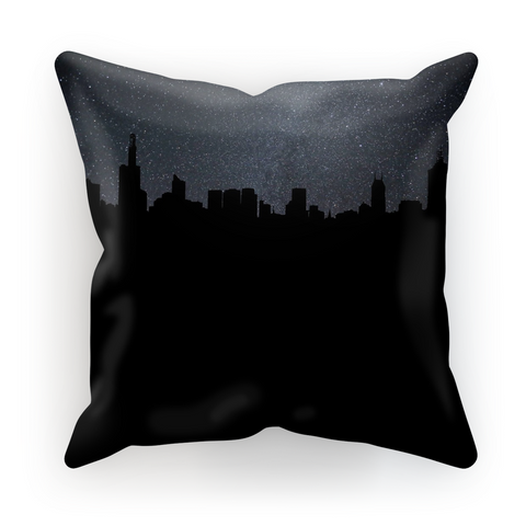 City By Night Pillow